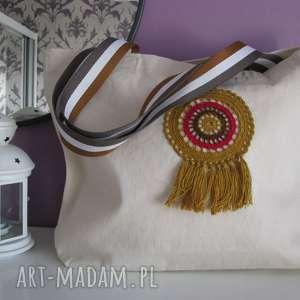 torba bawełniana ekologiczna, ecotorba, z łapaczem snów, ecobag
