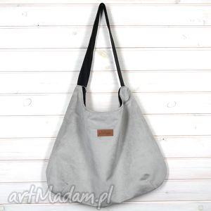Prezent Torba Julia szara stalowa, torba, pojemna, prezent, duża, mocna, xxl