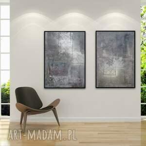 obraz w podwójnym egzemplarzu ręcznie malowany na płótnie 50 x