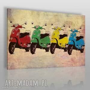 obrazy obraz na płótnie - vespa kolory 120x80 cm 28701, vespa, skuter, pojazd