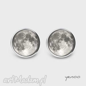 Prezent Kolczyki - Księżyc sztyfty, grafika, kolczyki, wkrętki, księżyc, grafika