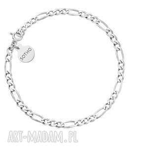 srebrna łańcuchowa bransoletka - łańcuszek, srebro925