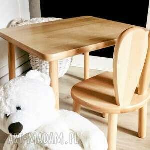 wnetrze z gustem wnętrze stolik i krzesełko - komplet mebelków królik