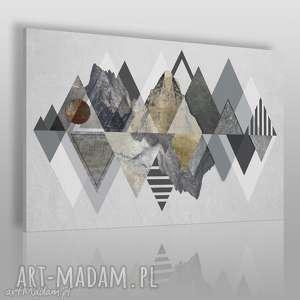 vaku dsgn obraz na płótnie - góry trójkąty wzory 120x80 cm 72101, góry