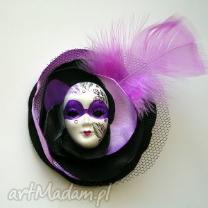 hand-made broszki broszka z kolekcji masquerade - pierzasta