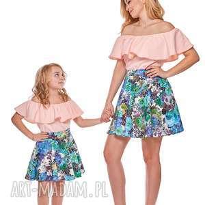 mama i córka bluzka hiszpanka dla córki ld9b 3 - falbana, bluzka, mama
