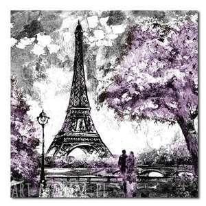 miasto paris paryż 3 - 100x100cm obraz na płótnie, obraz, paryż, paris