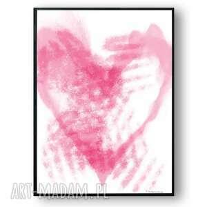 grafika w ramie rozmarzone srce 30x40