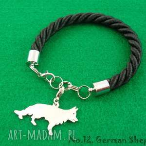 hand made bransoletki bransoletka owczarek niemiecki pies nr. 12