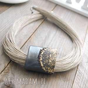 hand-made naszyjniki naszyjnik lniany turna