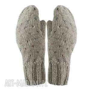 hand-made rękawiczki poke ciemny beż