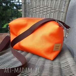Torebka z ekoskóry pomarańcza na ramię catoo accessories mała