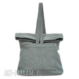 29-0006 Szara torebka plecak 2w1 damski do szkoły SWAN, damskie-plecaki