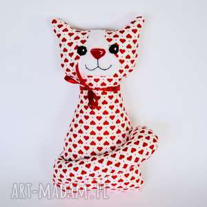 kotek miau - kamilka - 25 cm - kot, kicia, serce, maskotka, przytulanka, urodziny
