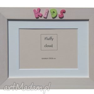 Ramka na zdjęcie kids pokoik dziecka fluffy cloud literki, napis