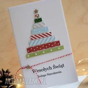 świąteczne prezenty Kartka świąteczna, kartki, kartka, choinka, święta