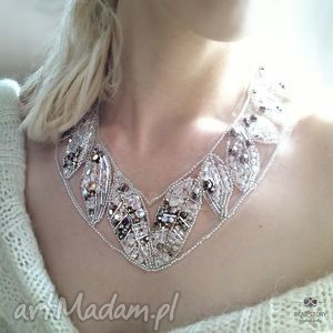 kolia elsa, kolia, ślub, kryształy, tiul biżuteria
