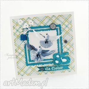kartka dla wielbiciela gołębi - zam pani ania, gołąb, ptak, urodziny, kartka, kwiaty