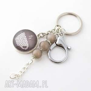 lume handmade brelok do kluczy lub torebki - kawa, kaboszon, grafika, szkło
