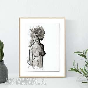obraz A4 namalowany ręcznie, abstrakcja, obrazy-ręcznie-malowane, grafiki-do-salonu