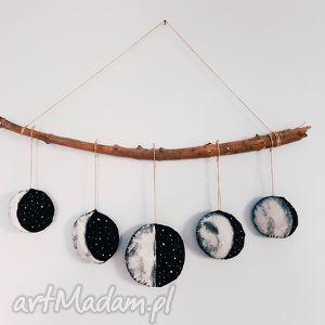 zawieszka fazy księżyca - ,skandynawski,skandynawskie,moon,księżyc,zawieszka,ozdoba,