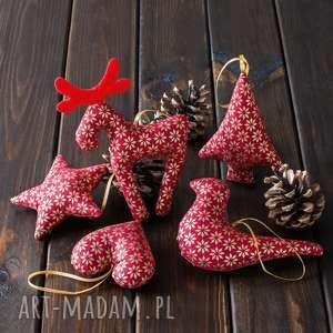 dekoracje ozdoby choinkowe bordowe w złote gwiazdki, boże narodzenie, bombki
