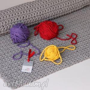 Dywan pleciony ze sznurka LOVELY GREY, szydełko, chodnik, dywan, dziergany, sznurek