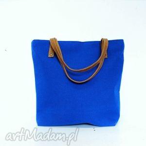 pod choinkę prezent, shopper bag, niebieska, chabrowa, kobaltowa, shopper, handmade