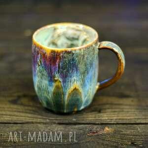 handmade kubek ceramiczny z koniem duży opal 450 ml, ceramika na prezent