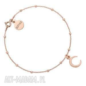 bransoletka z księżycem z różowego złota, rosegold