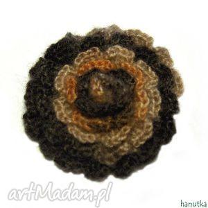 melanie - broszka szydełkowa - prezent, ozdoba, dekoracja, kwiat, szydełkowe