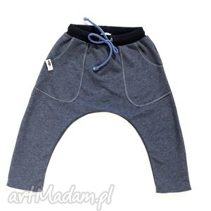 handmade ubranka spodnie grafitowe baggy