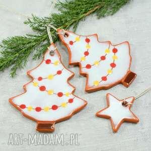hand-made pomysły na prezenty pod choinkę rustykalne choinki - zestaw