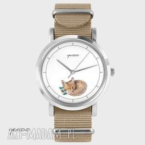 Prezent Zegarek, bransoletka - Lisek beżowy, nato, zegarek, bransoletka, lis