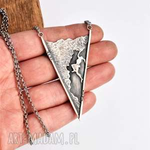 naszyjniki naszyjnik z miłości do gór, góry, srebro, tatromanik, wspinaczka