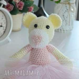 maskotki prima balerina m- jasny róż, miś, maskotka, pluszki, misiaki, prezent