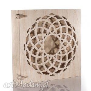 Szafka na klucze drewniana wzór geometryczny, naturalna, szafka, skrzynka,