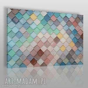 fotoobraz na płótnie - kolorowe dachówki 120x80 cm 916601, fotoobraz, kolorowy