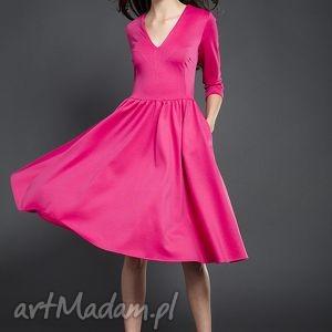 rozkloszowana sukienka midi, sukienka, rozkloszowana, valentimo sukienki