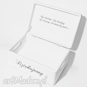 Ślubne pudełko na koperty kopertówka personalizowane napis