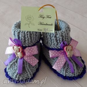 hand-made buciki dla niemowląt