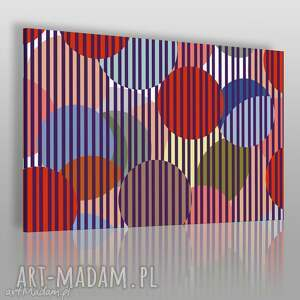 obraz na płótnie - kule paski kolorowy 120x80 cm 64701, kule, paski