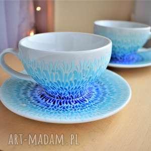 ręcznie zrobione ceramika filiżanki dla pary prezent ślubny rocznica