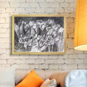czarno biały obraz, nowoczesna grafika do pokoju,czarno rysunek