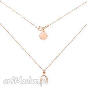 sotho naszyjnik z różowego złota z kością szczęścia wishbone