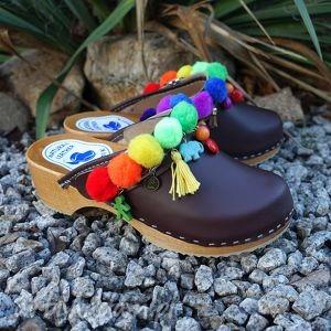 hand-made buty 36 - niepowtarzalne tęczowe boho chodaki:)
