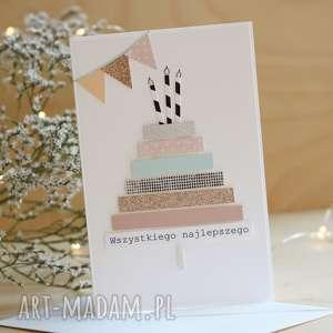 ręcznie robione scrapbooking kartki kartka urodzinowa