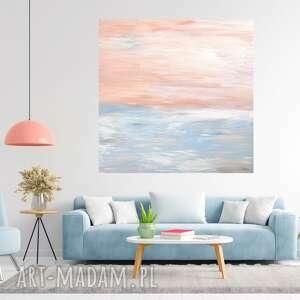 pastelowy obraz abstrakcyjny 80x80