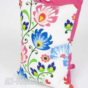 etui na pieluchy i chusteczki - kwiaty łowickie, etui, chusteczki, pieluszki, torba