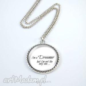 medalion, naszyjnik - dreamer white, naszyjnik, dreamer, marzyciel